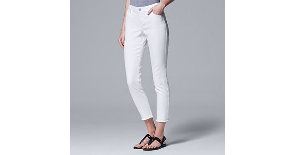 Women S Simply Vera Vera Wang Frayed Skinny Ankle Jeans