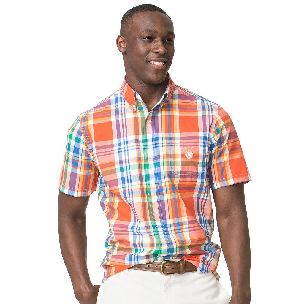 Men's Chaps Classic-Fit Plaid Easy-Care Button-Down Shirt