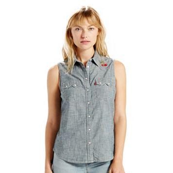 Women's Levi's Sleeveless Button-Front Denim Top