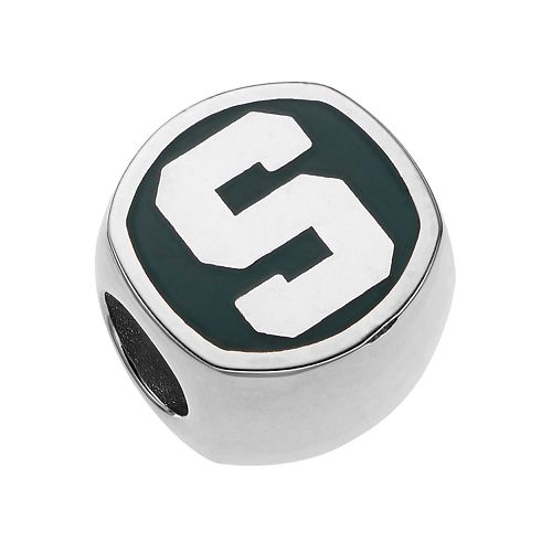 LogoArt Sterling Silver Michigan State Spartans Bead