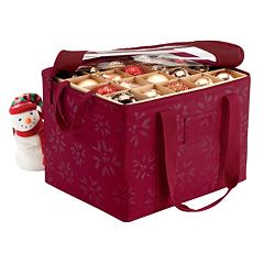 Seasons Christmas Ornament Organizer Storage Bin