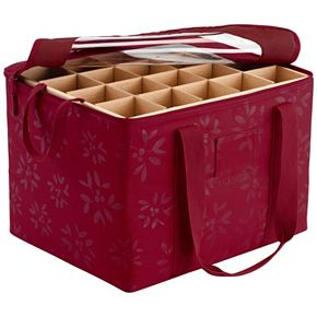 Seasons Christmas Ornament Organizer Storage Bin