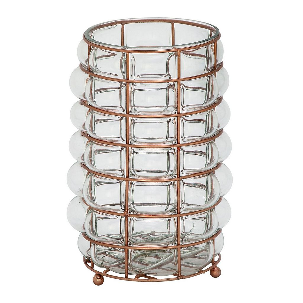 Rustic Reflections Glass Candle Holder