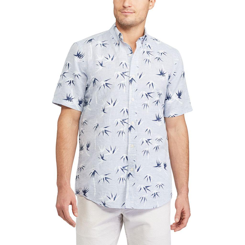 Men's Chaps Classic-Fit Linen-Blend Button-Down Shirt