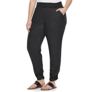 Juniors' Plus Size SO® Ruched Hem Pants