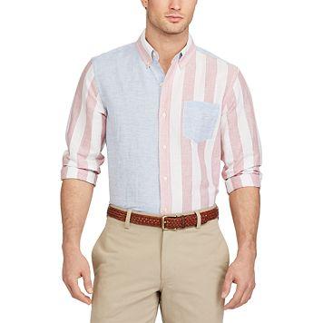 Men's Chaps Classic-Fit Striped Button-Down Shirt