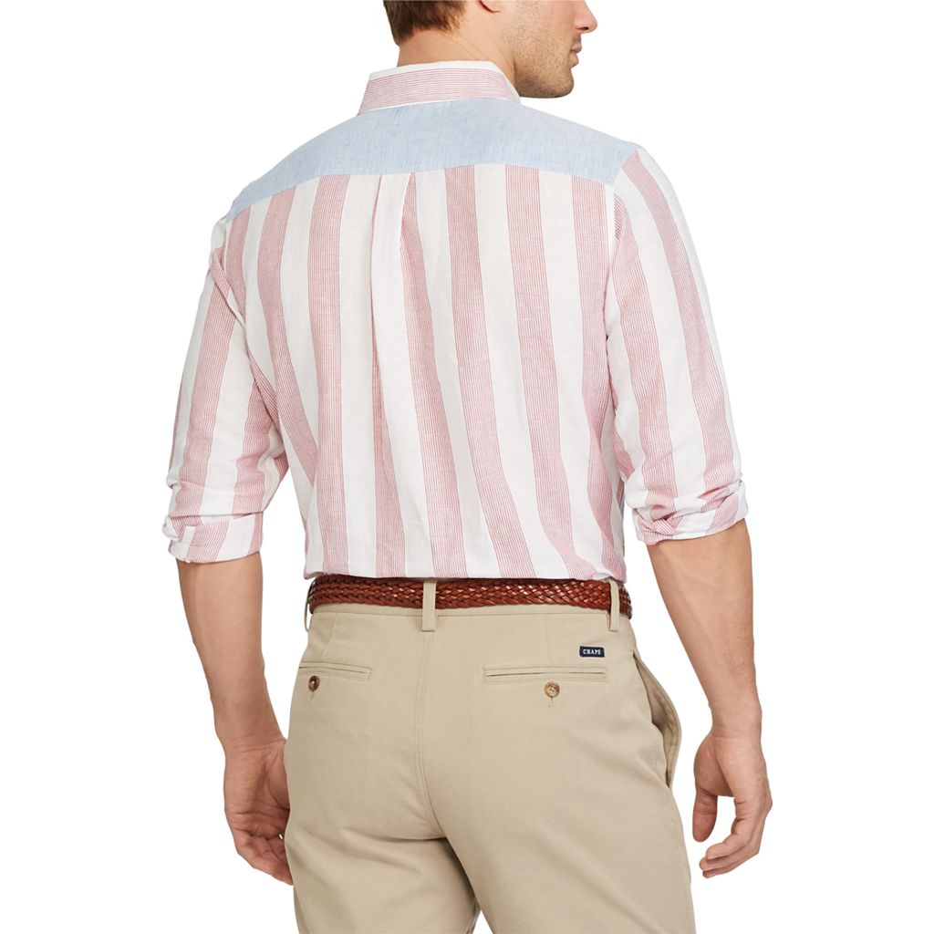 Men's Chaps Classic-Fit Striped Button-Down Shirt