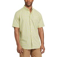 Men's Chaps Classic-Fit Checked Stretch Poplin Button-Down Shirt