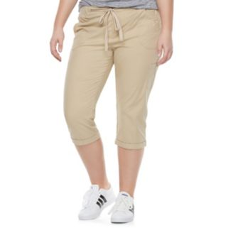 Juniors' Plus Size SO® Utility Capri Pants