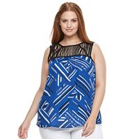 Plus Size Apt. 9® Strappy-Yoke Tank