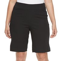 Plus Size Croft & Barrow® Pull-On Stretch Bermuda Shorts