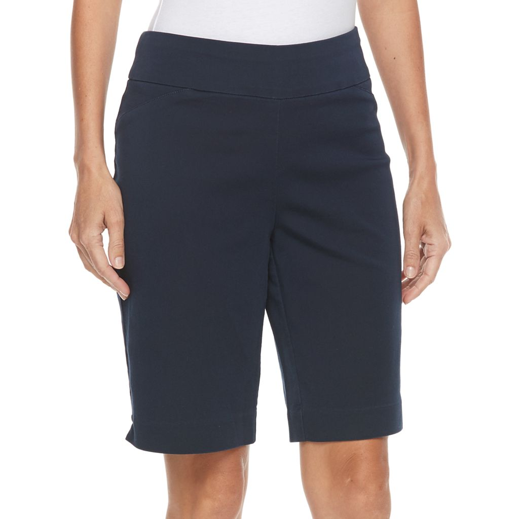 Petite Croft & Barrow® Polished Twill Bermuda Shorts