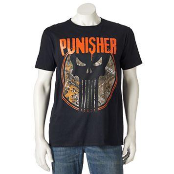 Men's Marvel The Punisher Realtree Tee