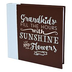 New View 'Grandkids' Faux-Leather Photo Album