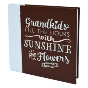 "New View ""Grandkids"" Faux-Leather Photo Album"