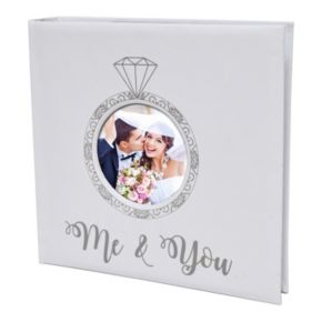 """New View """"Me & You"""" Faux-Leather Photo Album"""
