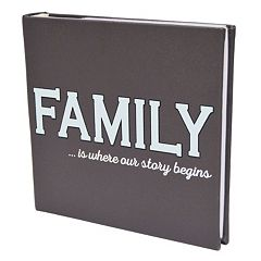 New View 'Family Story' Faux-Leather Photo Album