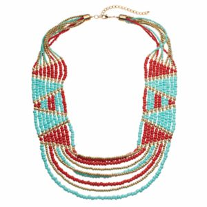 Diagonal Seed Bead Necklace