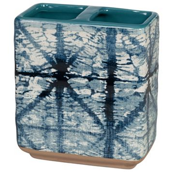 Creative Bath Shibori Ceramic Toothbrush Holder