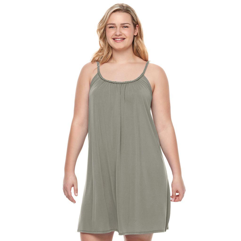 Juniors' Plus Size Mudd® Braided Trim Swing Dress