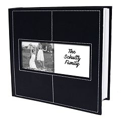 New View Stitched Faux-Leather Photo Album