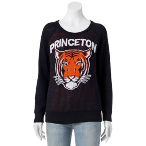 "Juniors' ""Princeton"" Tiger Graphic Sweater"