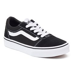 85fb2a5274 Vans Ward Low Boys  Skate Shoes. Black White Black Black Black Gum ...