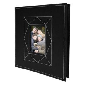 New View Black Faux-Leather Photo Album