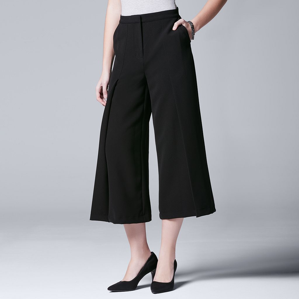 Women's Simply Vera Vera Wang Pleated Culottes