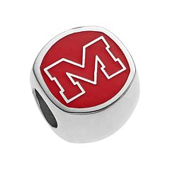 LogoArt Sterling Silver Ole Miss Rebels Bead