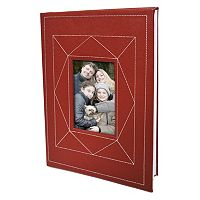 New View Burgundy Faux-Leather Photo Album