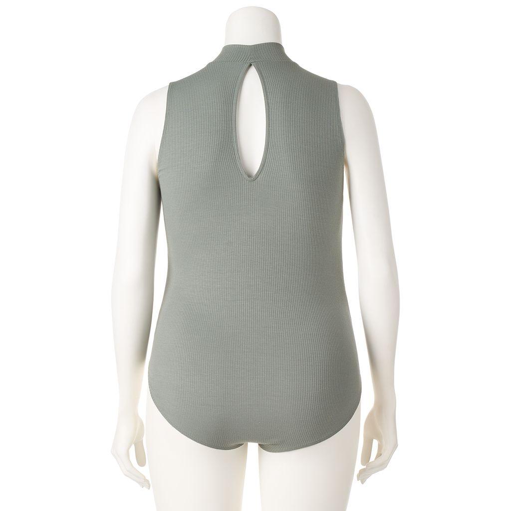 Juniors' Plus Size Mudd® Mockneck Bodysuit