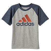 Boys 4-7x adidas Climalite Net Logo Raglan Tee