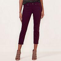 Women's LC Lauren Conrad Maroon Skinny Capri Jeans
