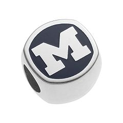 LogoArt Sterling Silver Michigan Wolverines Bead