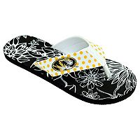 Women's College Edition Missouri Tigers Floral Polka-Dot Flip-Flops
