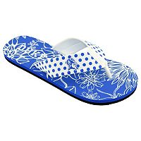 Women's College Edition Duke Blue Devils Floral Polka-Dot Flip-Flops