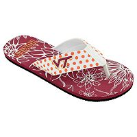 Women's College Edition Virginia Tech Hokies Floral Polka-Dot Flip-Flops