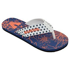 Women's College Edition Virginia Cavaliers Floral Polka-Dot Flip-Flops