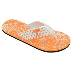 Women's College Edition Tennessee Volunteers Floral Polka-Dot Flip-Flops