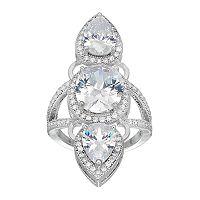 Jennifer Lopez Cubic Zirconia Teardrop 3-Stone Ring