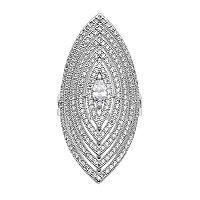 Jennifer Lopez Cubic Zirconia Openwork Marquise Ring
