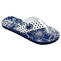 Women's College Edition Penn State Nittany Lions Floral Polka-Dot Flip-Flops