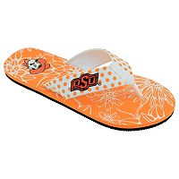 Women's College Edition Oklahoma State Cowboys Floral Polka-Dot Flip-Flops