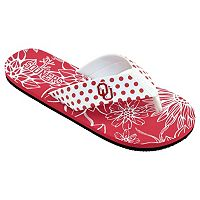 Women's College Edition Oklahoma Sooners Floral Polka-Dot Flip-Flops