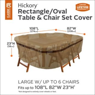 Hickory Large Rectangular or Oval Patio Table & Chairs Cover