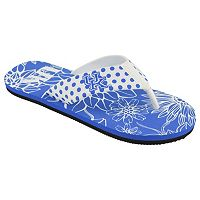 Women's College Edition Kentucky Wildcats Floral Polka-Dot Flip-Flops