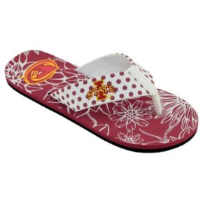 Women's College Edition Iowa State Cyclones Floral Polka-Dot Flip-Flops