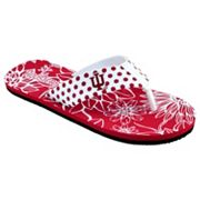 Women's College Edition Indiana Hoosiers Floral Polka-Dot Flip-Flops
