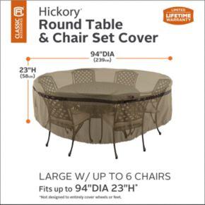 Hickory Large Round Patio Table & Chairs Cover